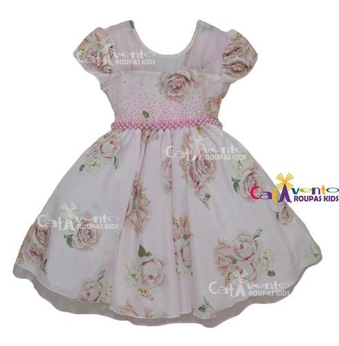 vestido festa princesa floral 6 a 12 anos com bolero e tiara