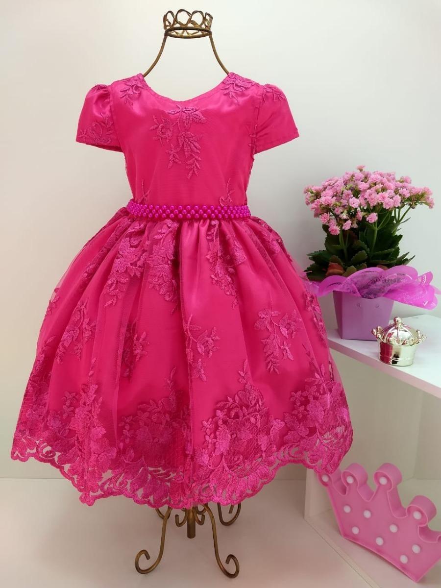 1187df318 vestido festa realeza rosa pink luxo marcha daminha infantil. Carregando  zoom.