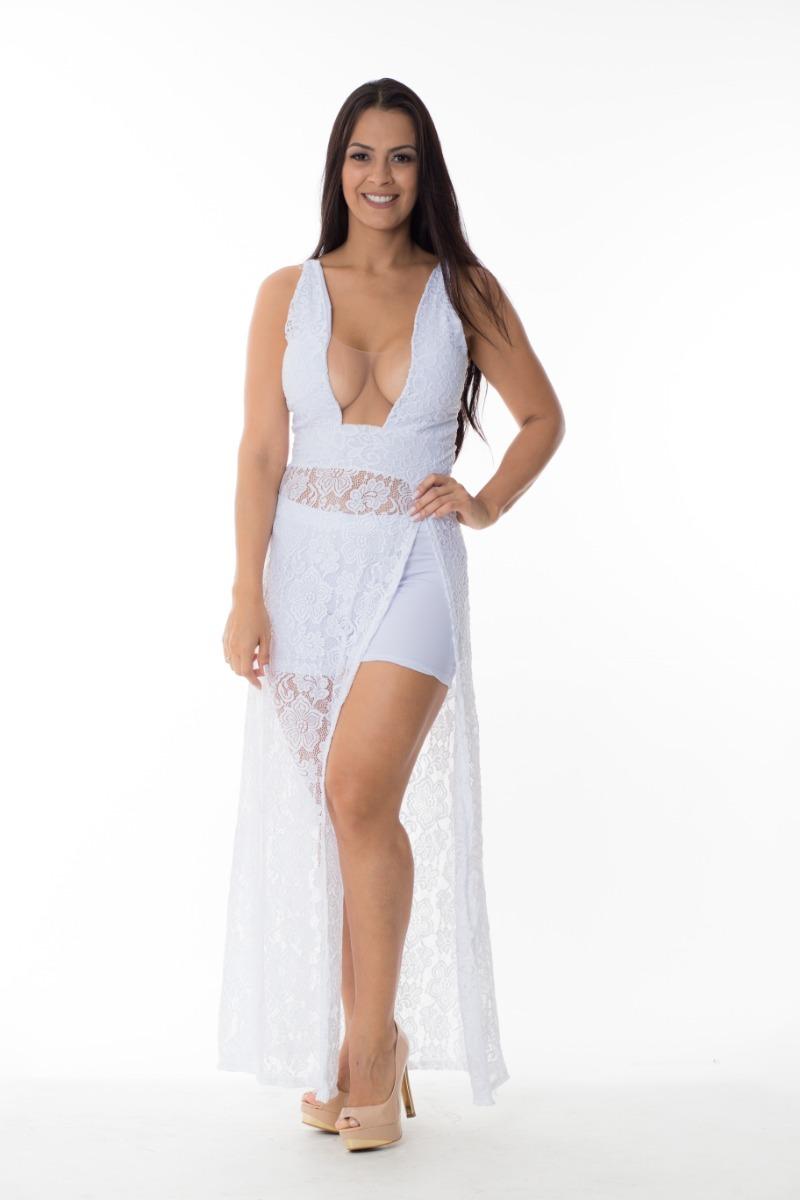 2a58124e3 vestido festa renda decote com tule shorts por baixo. Carregando zoom.