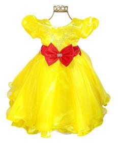 fb23c8d22a Vestido Festa Tema Magali Infantil Aniversário Promoção. R  94