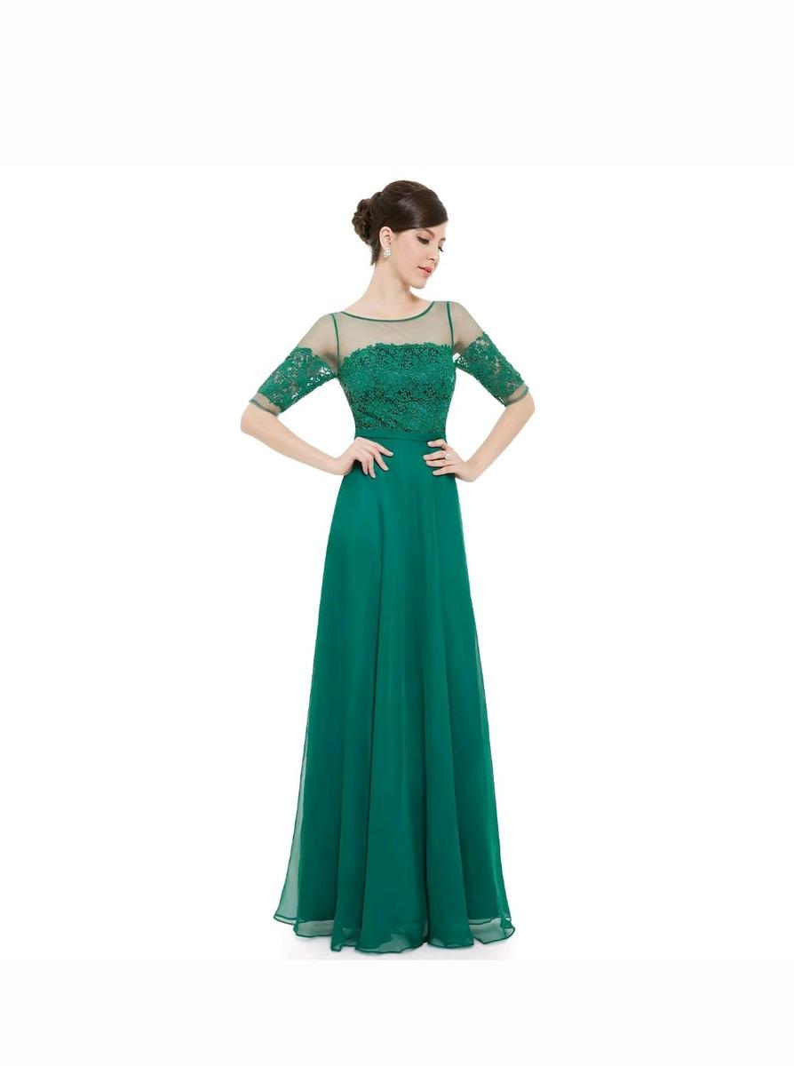 e6cbfcdcaf vestido festa verde p madrinha casamento. Carregando zoom.