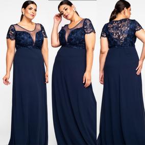 e9f6cad41d Vestidos Longos Pra Casamento De Dia Festa Feminino - Vestidos Azul-escuro  com o Melhores Preços no Mercado Livre Brasil