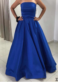 Vestido Fiesta Azul Rey