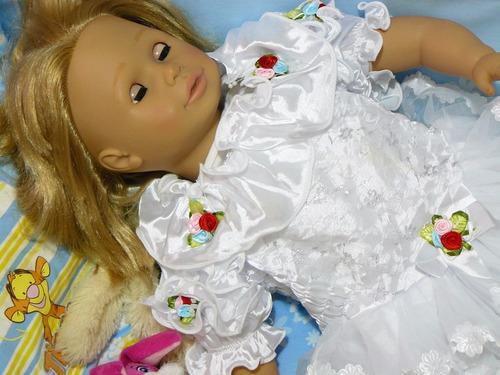 vestido fiesta bautismo nena beba 1-2 años importado