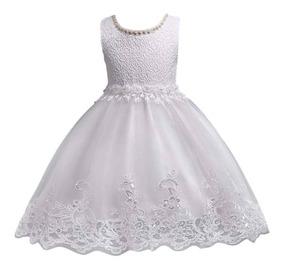 Vestido Fiesta Bautizo Matrimonio Talla 1 Año Hasta 7 Años