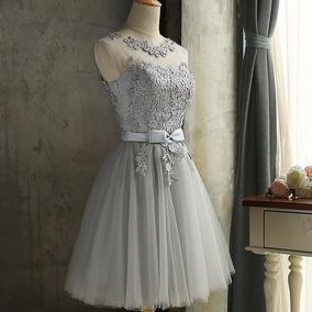 Vestidos cortos en color gris