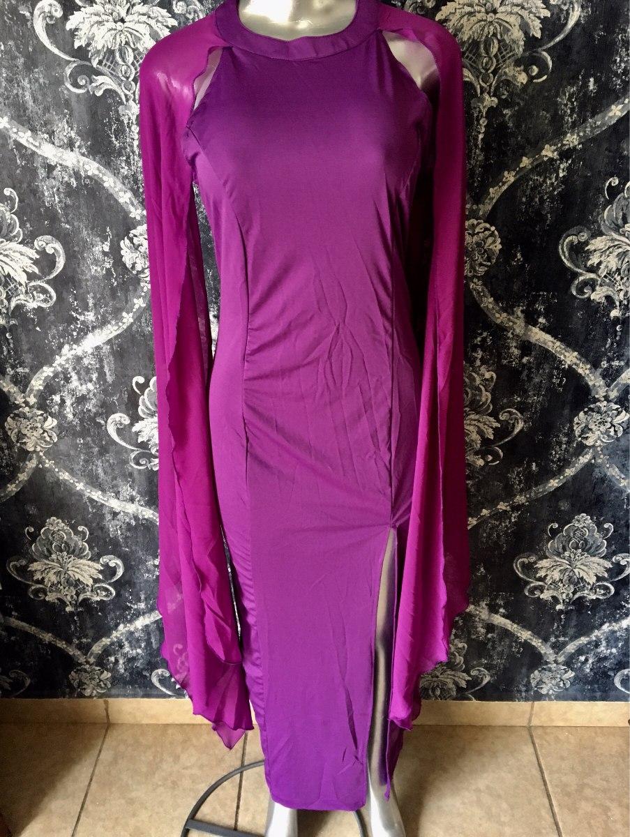 Vestido Fiesta Color Uva Morado Largo Elegante - $ 899.00 en Mercado ...