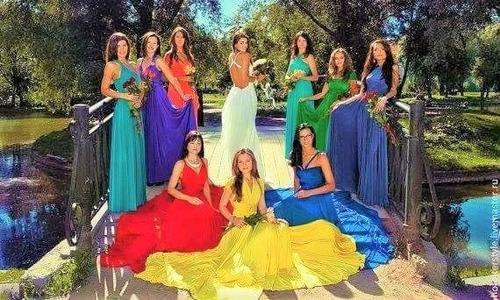 vestido fiesta convertible multiformas damas corto-largo