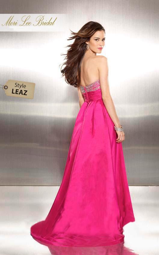 Bonito Mori Vestido De Fiesta Rosa Lee Elaboración - Ideas de ...