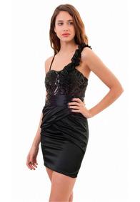 3df83e31fc8 Vestidos De Saten Cortos Negro - Vestidos de Mujer en Mercado Libre ...