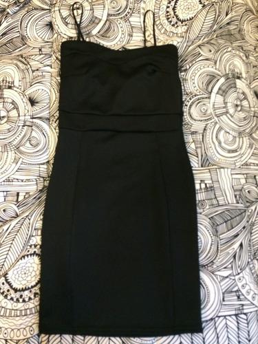 vestido fiesta corto negro xs - s