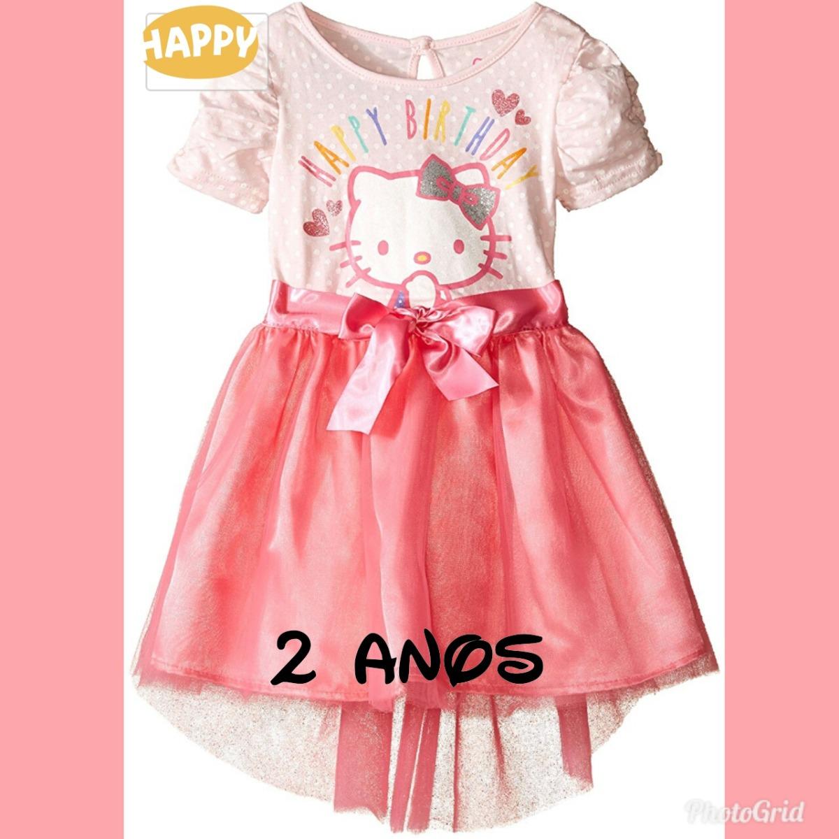 Vestido Fiesta Cumpleaños Bebe Hello Kitty - $ 220.00 en Mercado Libre
