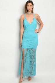 Vestido Azul Turquesa Ni A Largo En Coahuila En Mercado