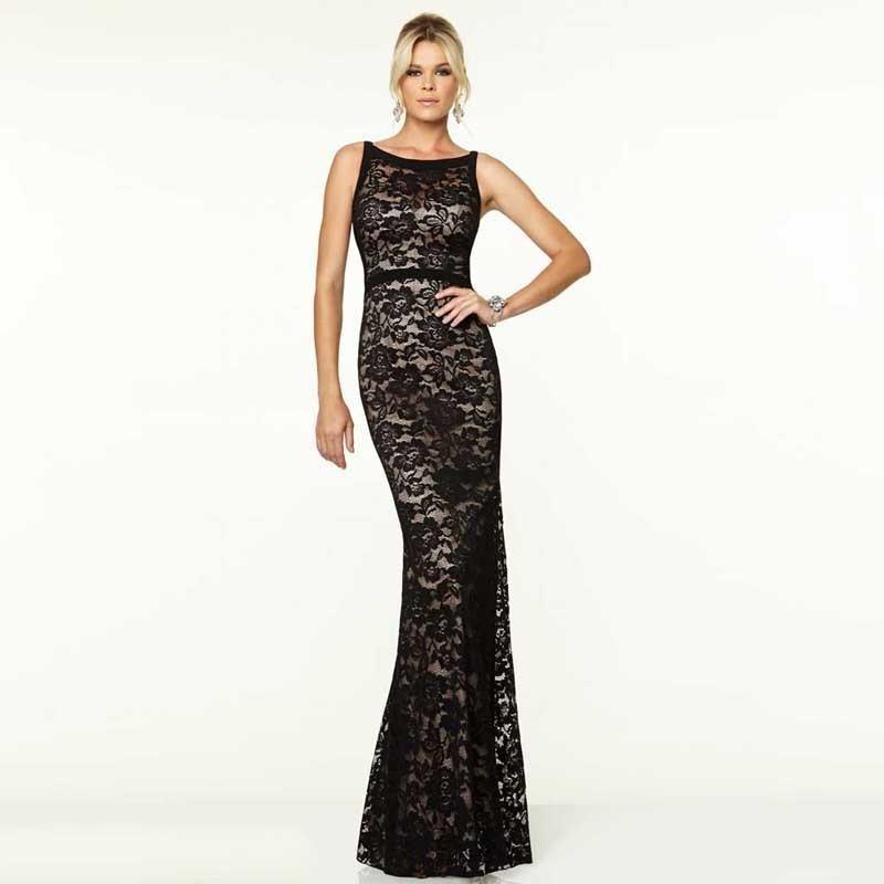 vestido fiesta encaje largo forrado talles sexy moda 2018. Cargando zoom. ca8e3bfa1920