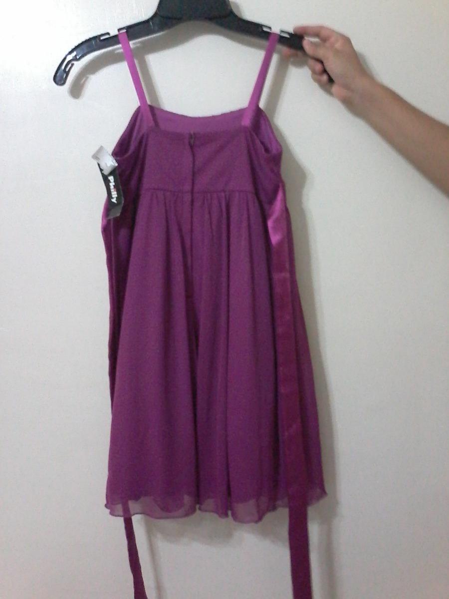 Vestido Fiesta Infantil Magenta Nuevo Talla 10 - $ 99.00 en Mercado ...