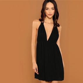 9416335af Vestido Negro Largo Con Tiras De Noche - Vestidos de Mujer en Mercado Libre  Argentina
