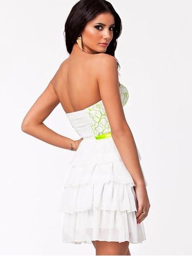vestido fiesta kebedo nelly blanco km