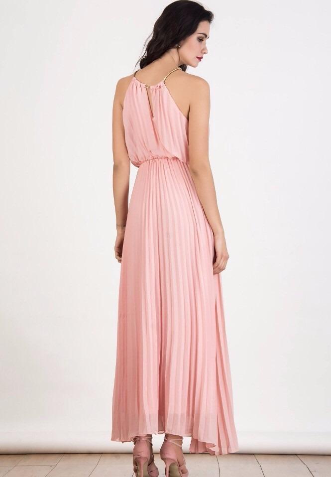 Hermoso Vestido De Fiesta Largo Plisado \'18 Unico!!!!! - $ 1.900,00 ...