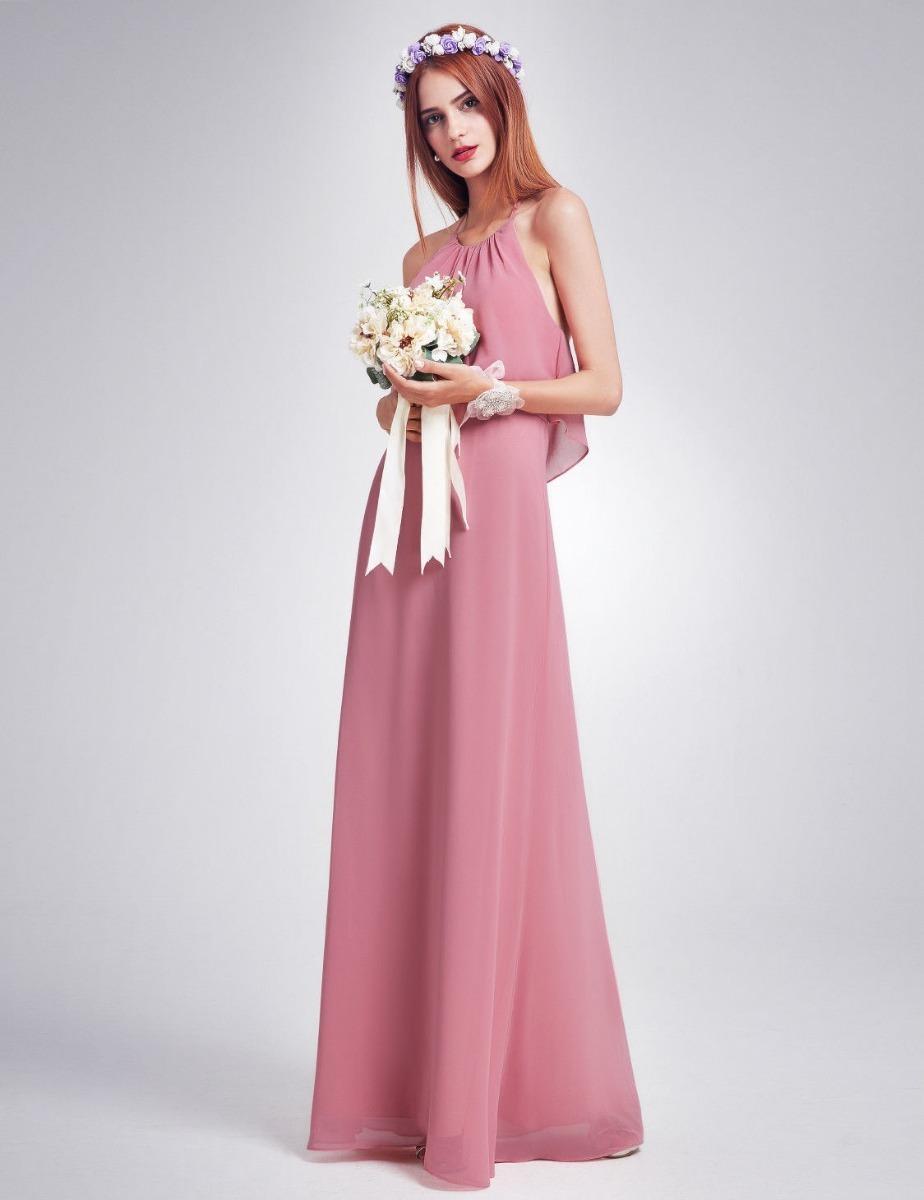 Vestido Fiesta Egresadas Quince Años Largo Rosa Importado - $ 3.800 ...