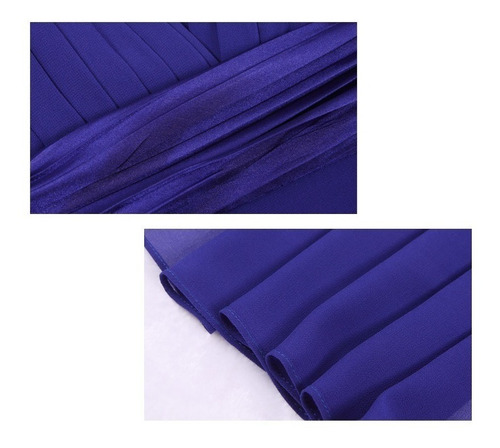 vestido fiesta largo azul talla 6 12 14 ep 80
