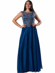 cbcb2a78b Vestido De Noche Azul Marino Vestidos Largos - Vestidos de Mujer 12 ...