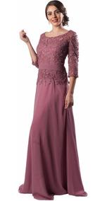 Vestido Rosa De Largo Noche Fiesta Dw517 7gf6Yby