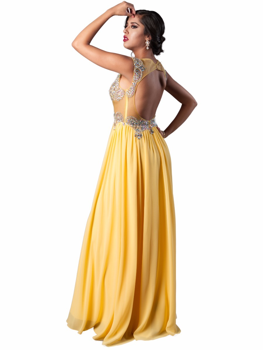 Vestidos para fiestas amarillos