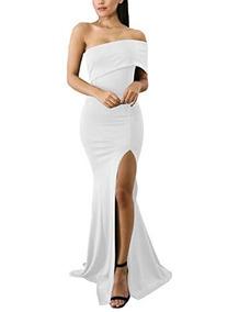 fd863c91b389 Vestidos Blancos Sencillos Largos De Noche Mujer - Largo de Mujer en ...