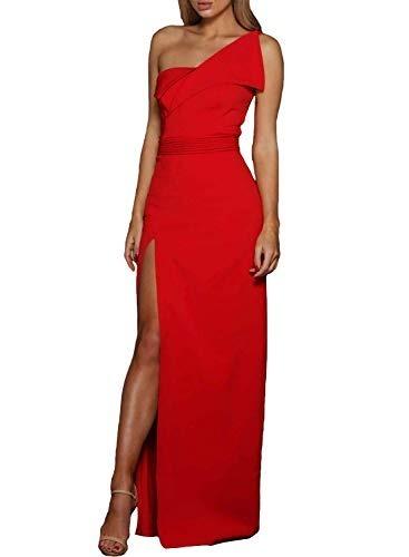 10928f669a34 Vestido Fiesta Largo Elegante Rojo 2 Boda Xv Hombro Zkess L