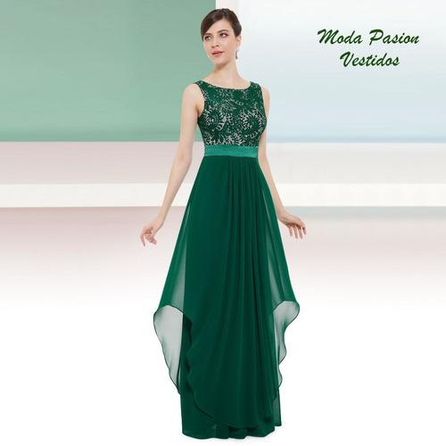 vestido fiesta largo madrina talle grande import moda pasion