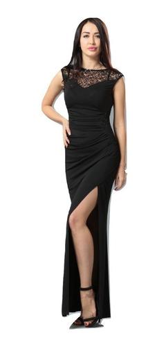 vestido fiesta largo negro talla  pequeña va 132