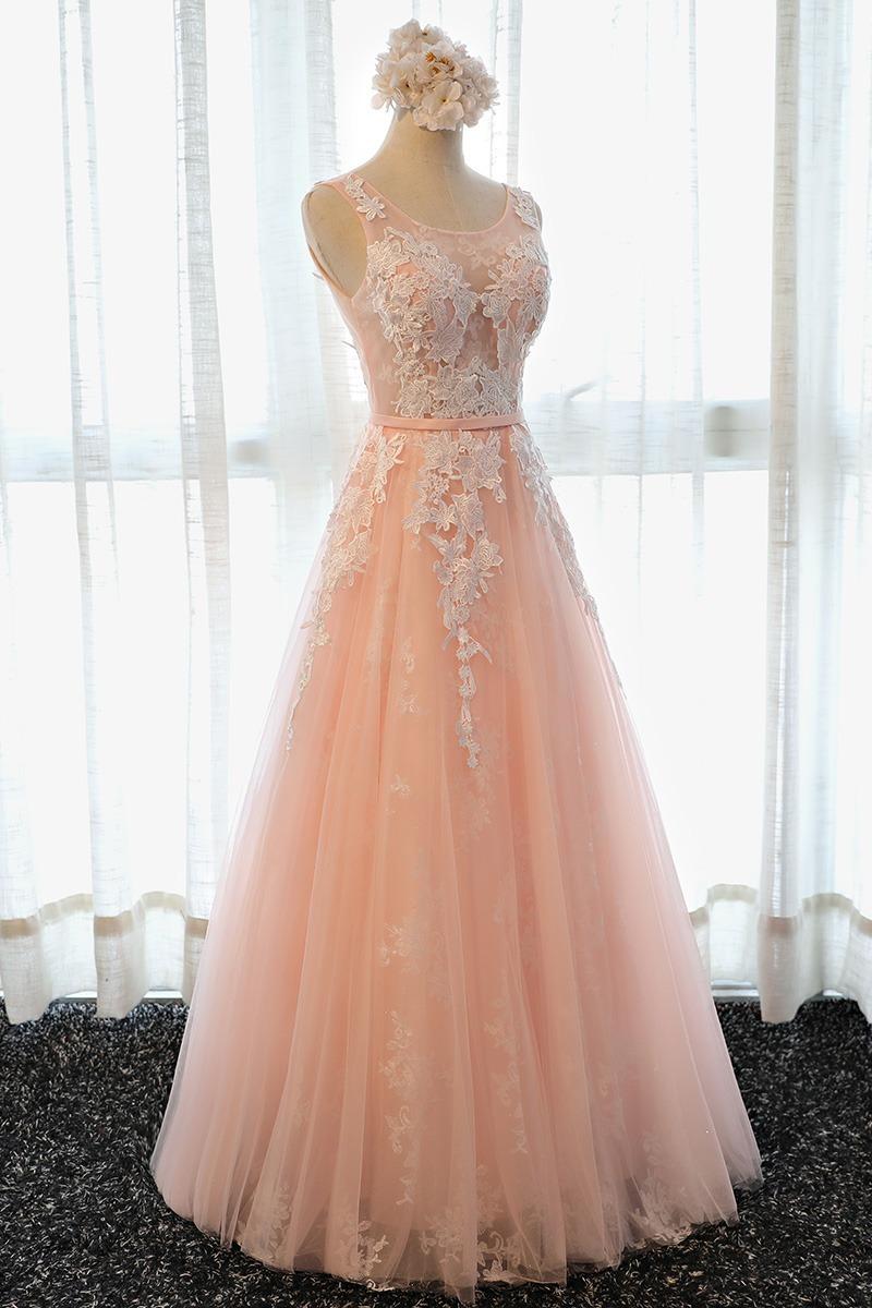 Vestido Fiesta Largo Rosa Coral Gris Envio Gratis E 3650