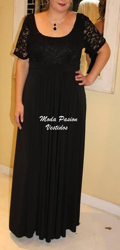 d357d8a27b7 vestido fiesta mangas talles grandes gorditas moda pasion. Cargando zoom.