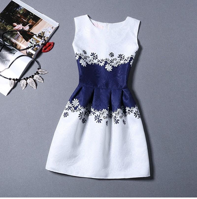 Vestidos de fiesta blanco y azul