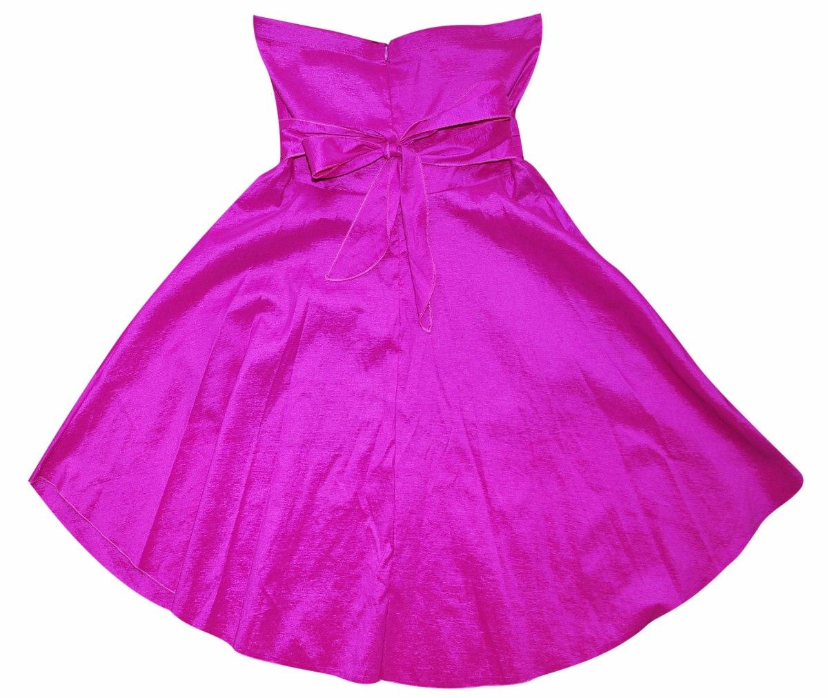 Vestido Magenta Fiesta Dia,noche Mujer Elastizado 1 Solo Uso - $ 950 ...