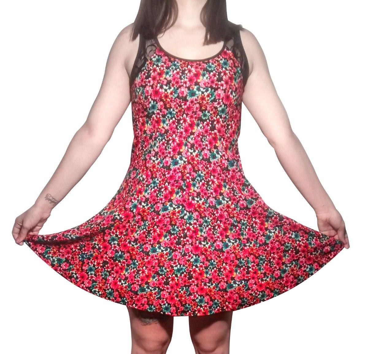 Vestido Fiesta Mujer Algodon Floreado Capital Nuevo - $ 1.199,00 en ...