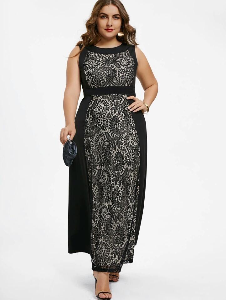 Vestidos de fiesta negro talla grande