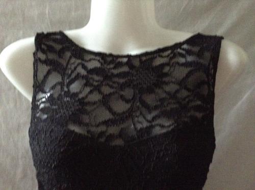 vestido fiesta negro corto strech nuevo importado talle m