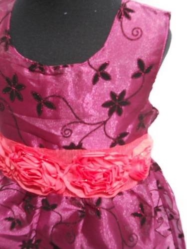 vestido fiesta nena purpura uva fucsia cortejo hasta 4 años