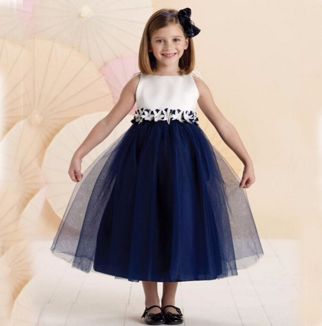 Vestidos fiesta nina azul