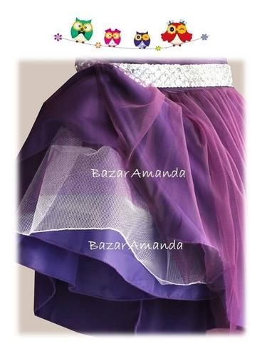 vestido fiesta niña bautizo morado - bazar amanda