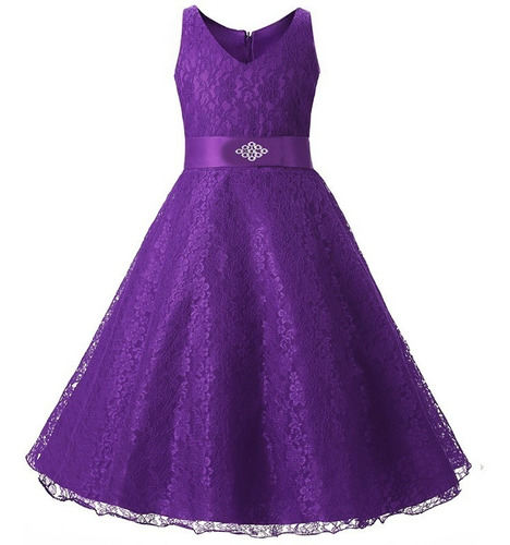 vestido fiesta niña gala - bazar amanda