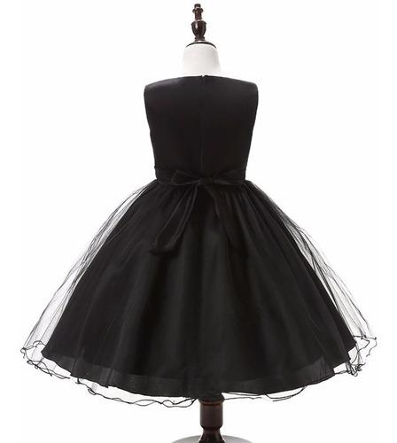 vestido fiesta niña negro con lentejuelas