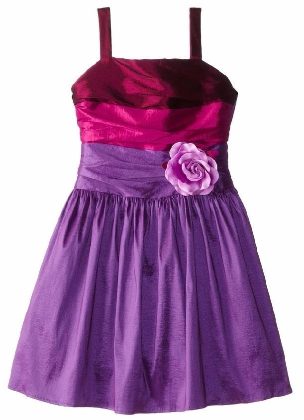 Vestido Fiesta Niña Talla 14 Color Rosa Y Purpura - $ 34.990 en ...