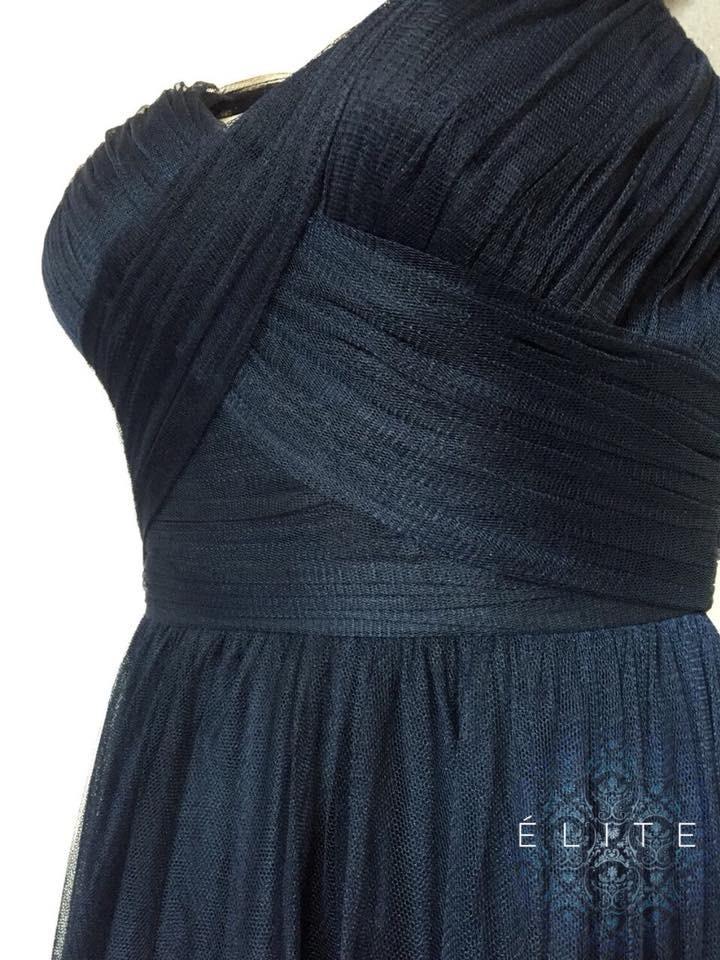 78cced5ea vestido fiesta noche azul marino adolfo domínguez elegante m. Cargando zoom.