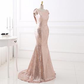 Vestido Noche Color Dorado Vestidos De Mujer Queretaro