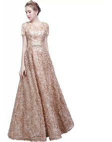 Vestidos De Noche Color Dorado Vestidos De Mujer