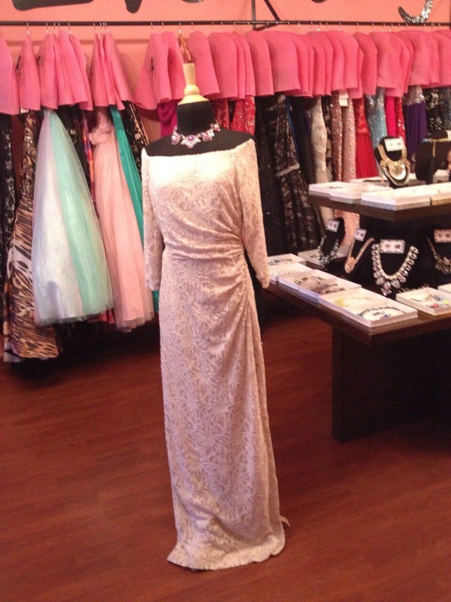 Vestido Fiesta Noche Ralph Lauren Encaje Talla 2 - $ 1,550.00 en ...