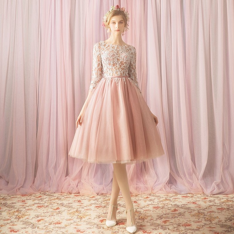 d0a1e5422a Vestido Fiesta Rosa Bordado Envio Gratis !p-180731002 -   3