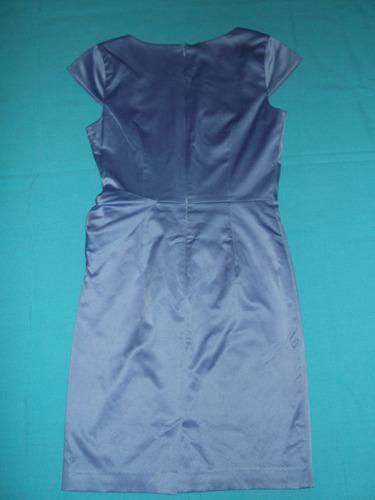vestido fiesta satín lavanda con lazo talla xs